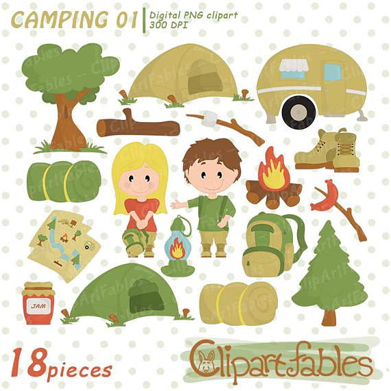 Camping clip art cute. Campfire clipart outdoor