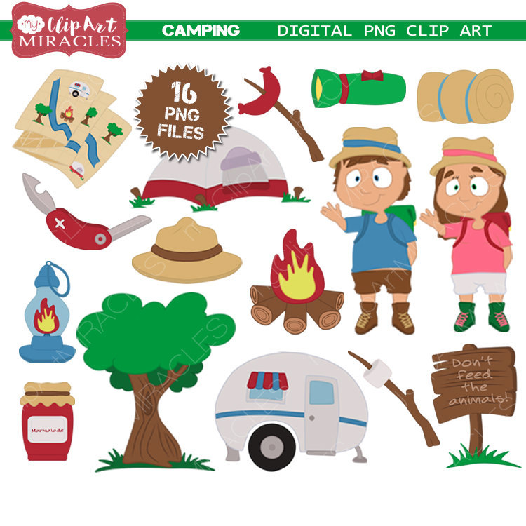 Untitled camping clip art. Campfire clipart outdoor
