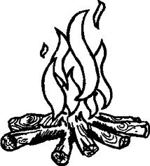 Campfire clipart outline. Clip art ahg craft
