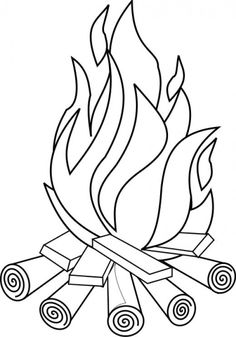 Pictures of a cliparts. Campfire clipart outline