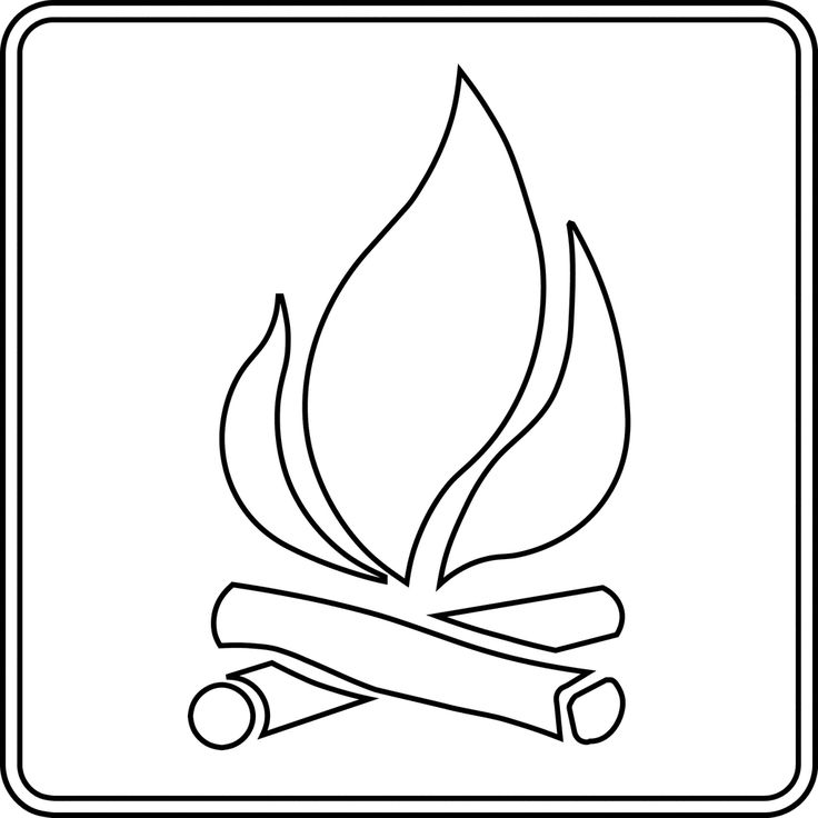 Campfire clipart outline.  best tattoo ideas