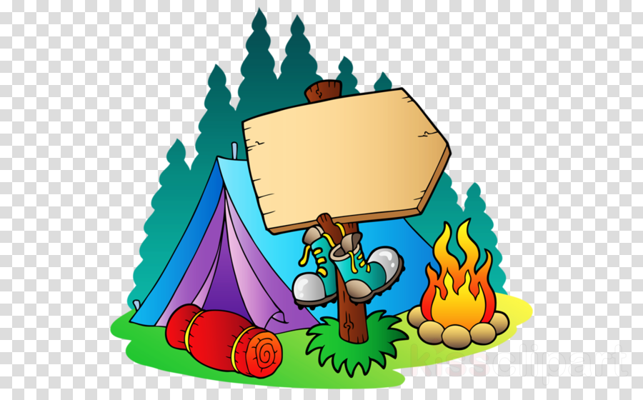 Campfire clipart party. Cartoon hat camping illustration