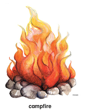 Clip art and images. Campfire clipart printable