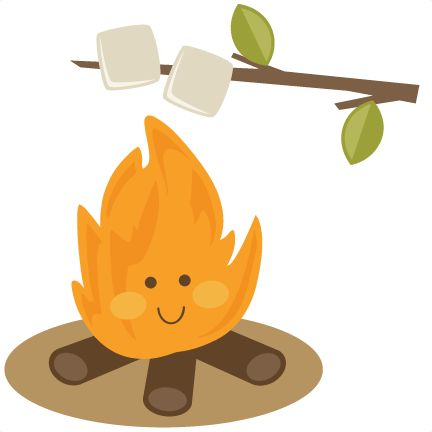 best camping printables. Fire clipart smore