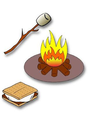 best camping printables. Campfire clipart printable