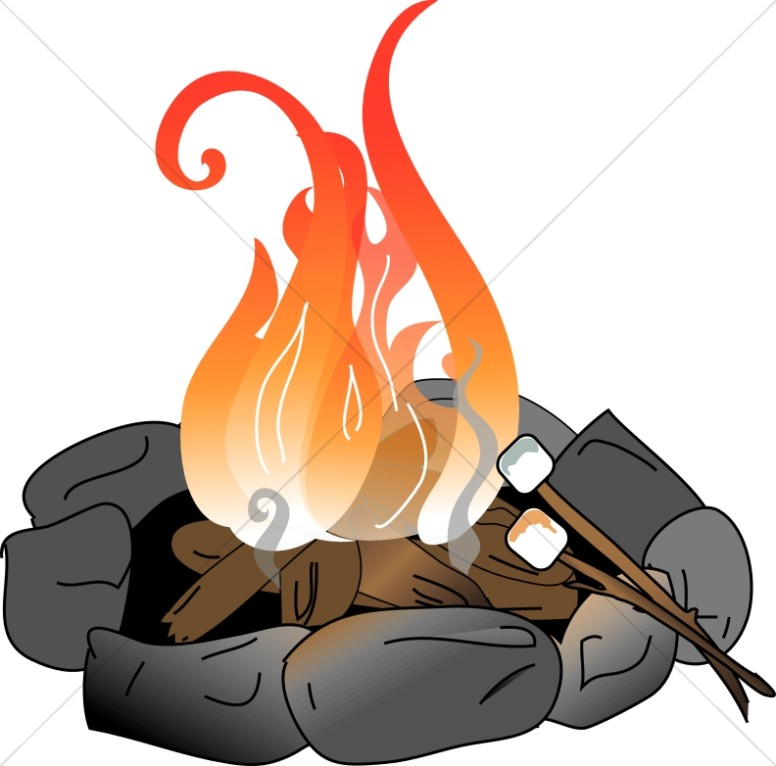 Campfire clipart roasting marshmallow. With marshmallows christian youth