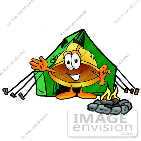 Tent and panda free. Campfire clipart safety