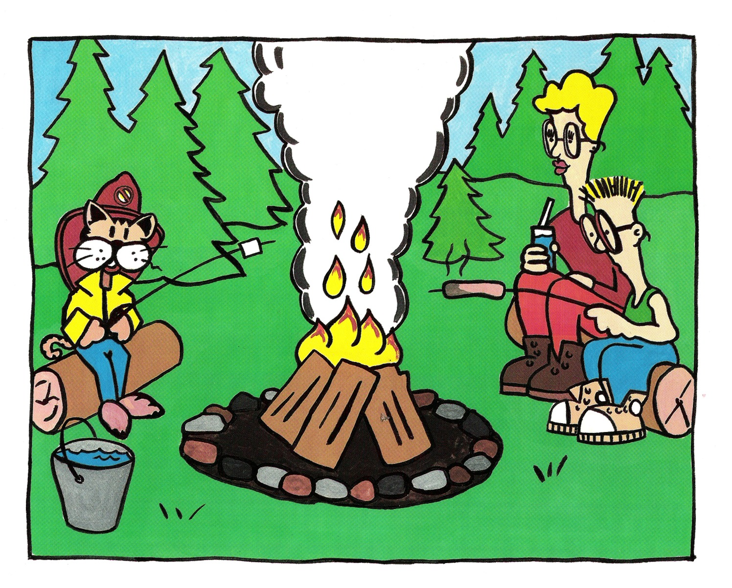 Campfire clipart safety. Office of the fire