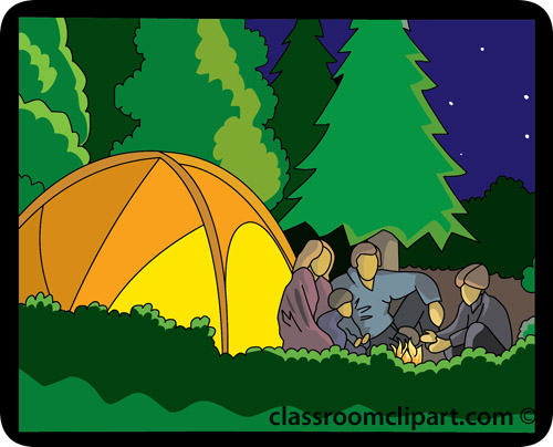 Clipart tent family camp. Free camping scenes cliparts