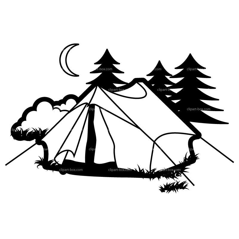 Tent and free images. Campfire clipart scene
