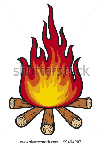 Cartoon panda free images. Campfire clipart scene