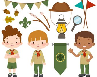 Boy scout troop etsy. Campfire clipart scouts