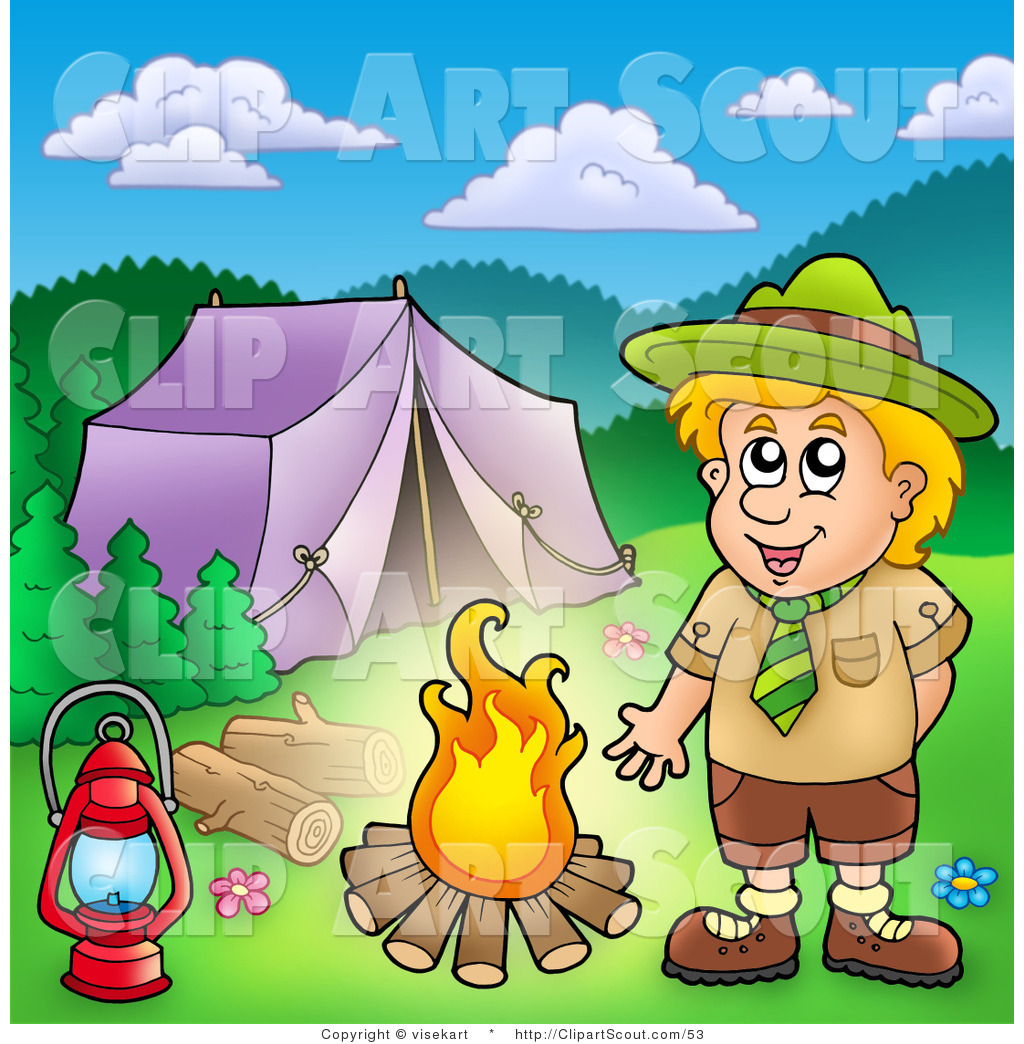 Of a boy scout. Campfire clipart scouts