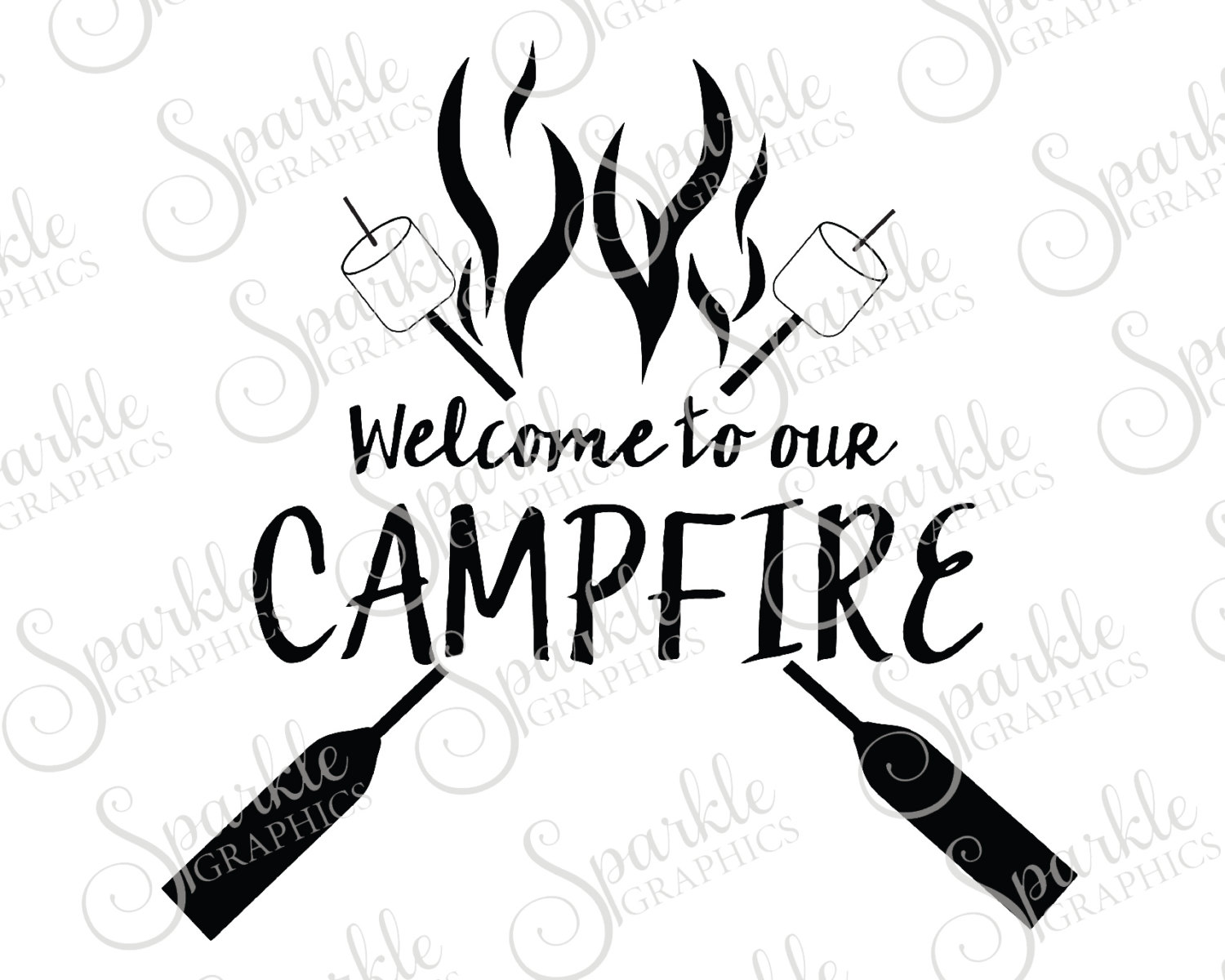 Campfire clipart silhouette. Welcome to our cummer