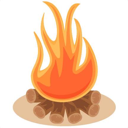 Campfire clipart silhouette. Svg scrapbook cut file