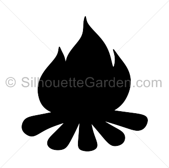 Clip art download free. Campfire clipart silhouette