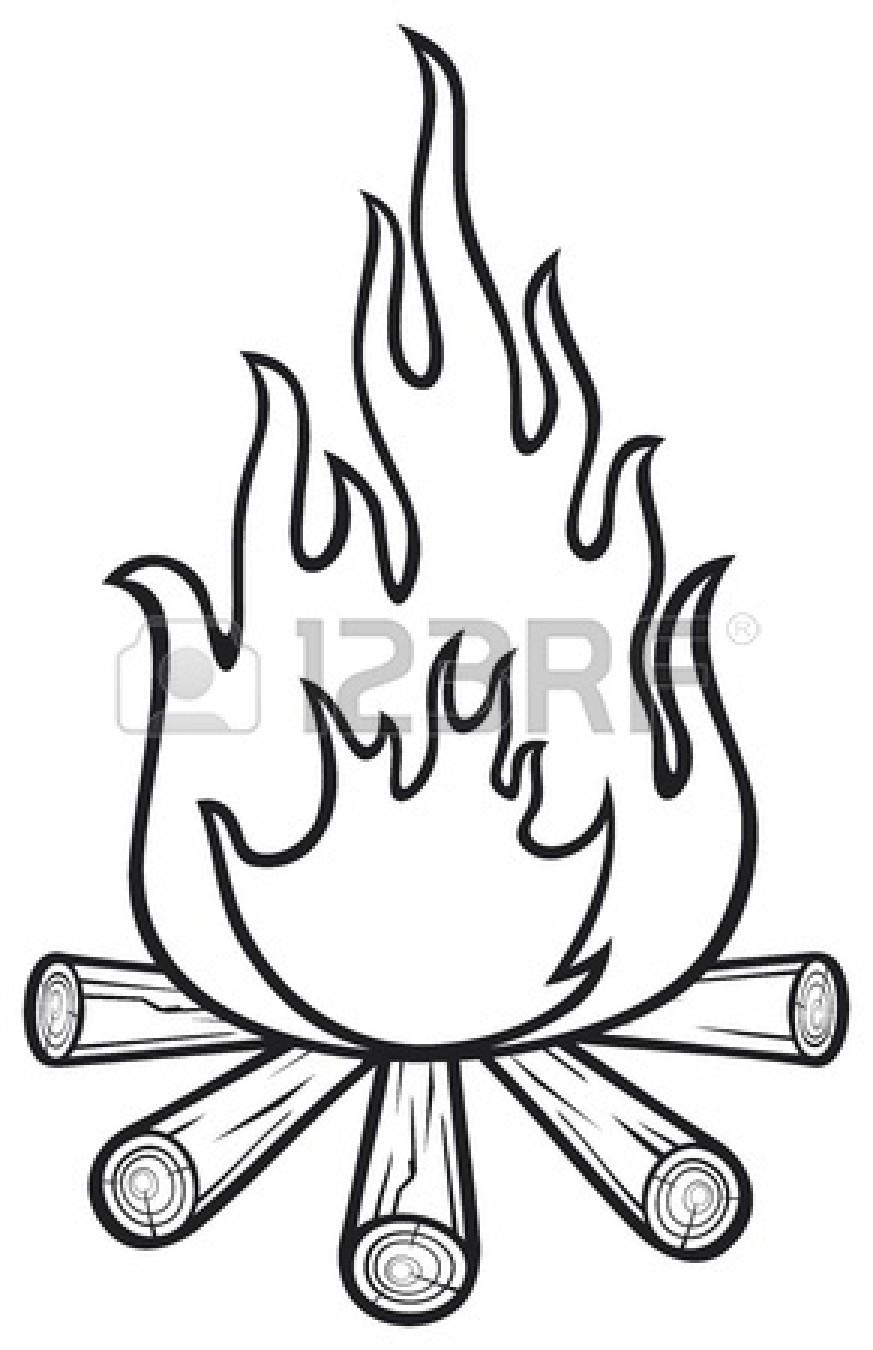Campfire clipart simple. Stock vector panda free