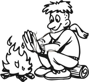 Silhouette at getdrawings com. Campfire clipart sketch