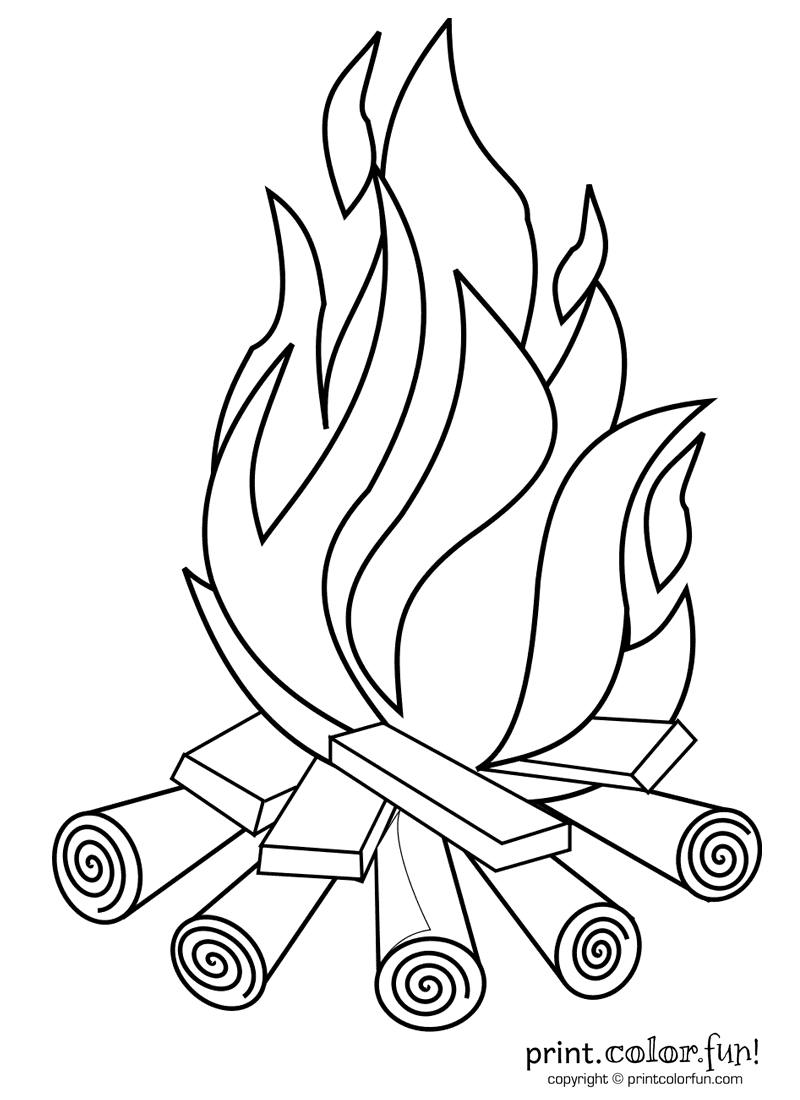 Free drawing download clip. Campfire clipart sketch