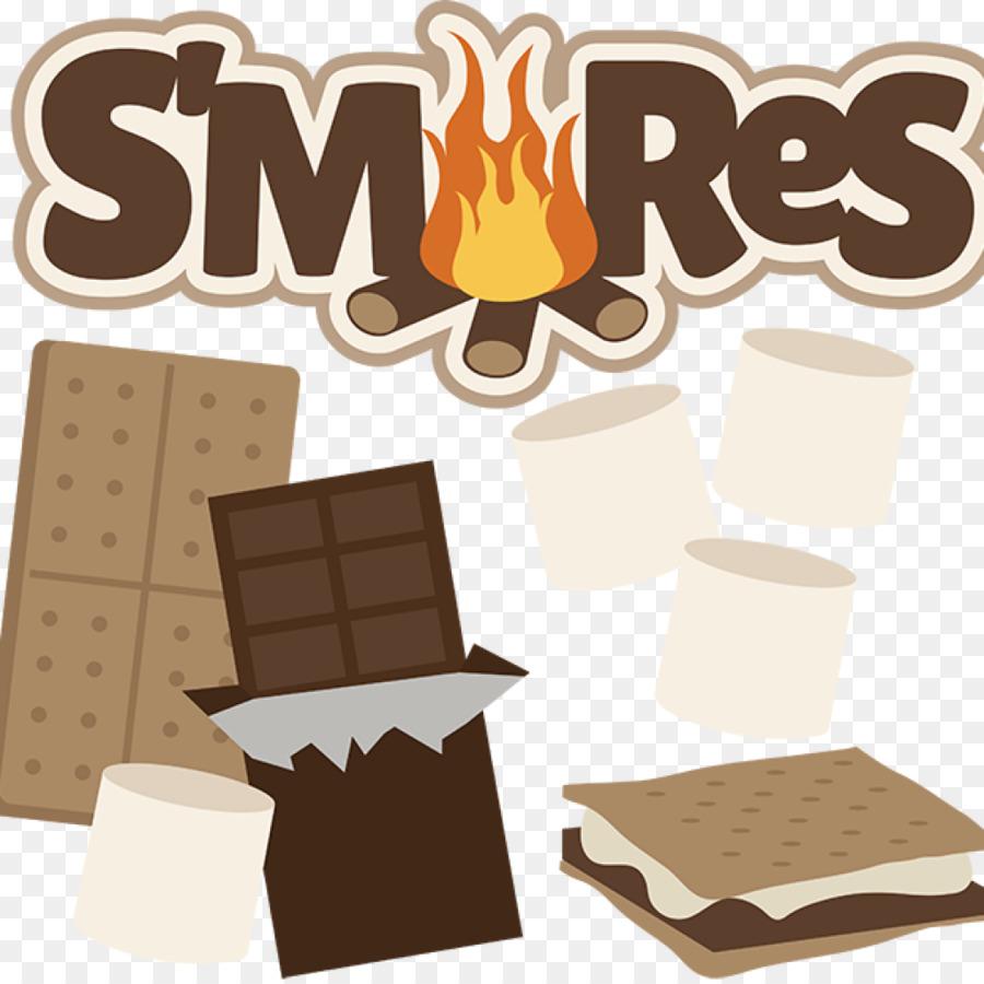 Camping cartoon . Campfire clipart smore
