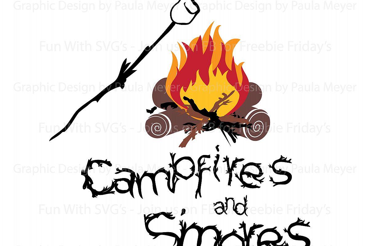 Campfire clipart smore. Campfires s mores svg