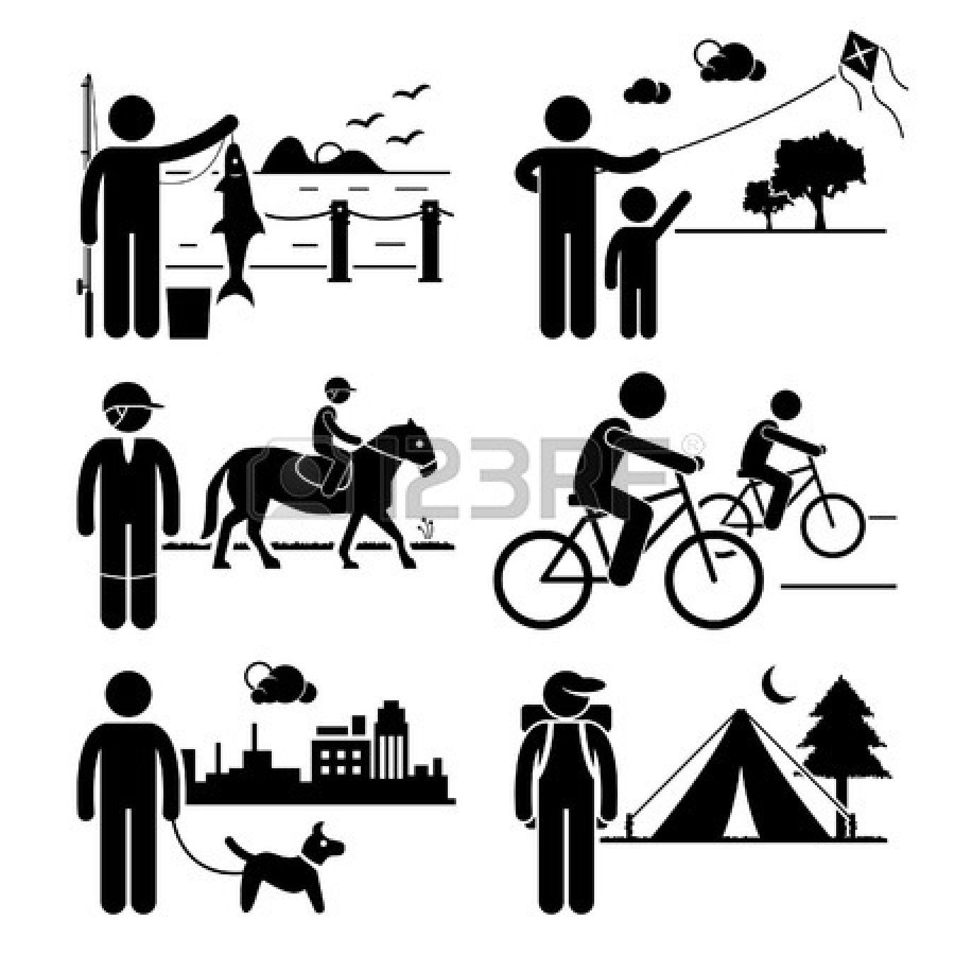 Recreational outdoor leisure activities. Campfire clipart stick figure