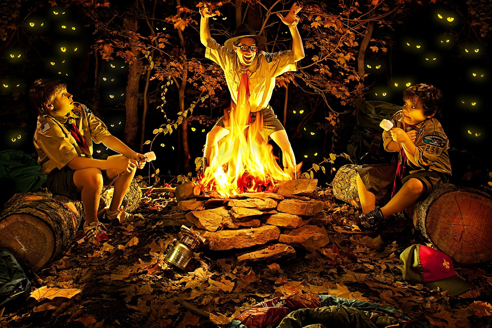 Campfire clipart storytelling. Illustration group of for