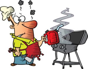 Grilling tips camping vacation. Campfire clipart unlit