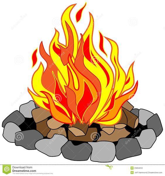 Clip art free drawing. Campfire clipart vector