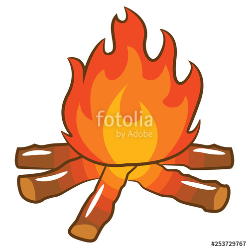 Campfire clipart vector. Stock image and royalty