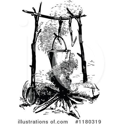 Illustration by prawny royaltyfree. Campfire clipart vintage