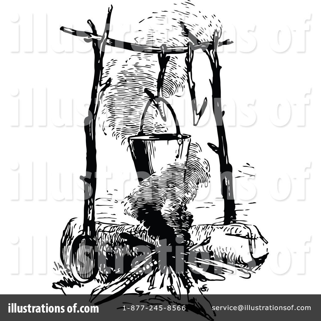 Campfire clipart vintage. Illustration by prawny royaltyfree