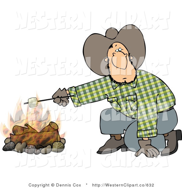 Campfire clipart western. Clip art of a