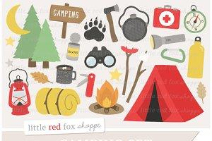 Camping clipart. Illustrations creative market