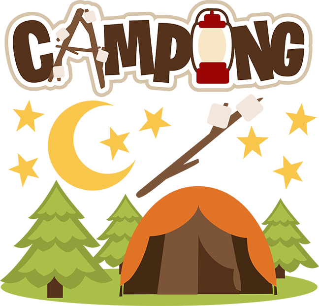 Svg file for scrapbooking. Woodland clipart camping