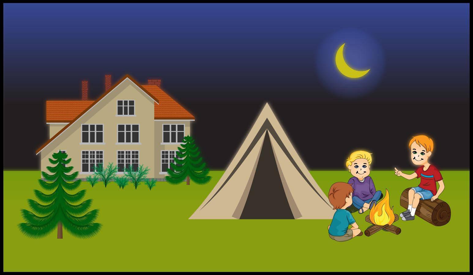 Clip art library. Camping clipart backyard camping