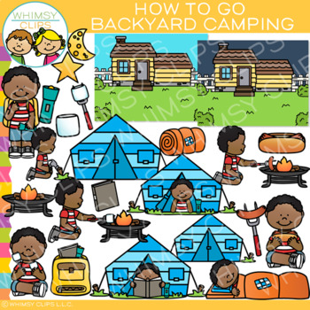 Camping clipart backyard camping. How to go clip