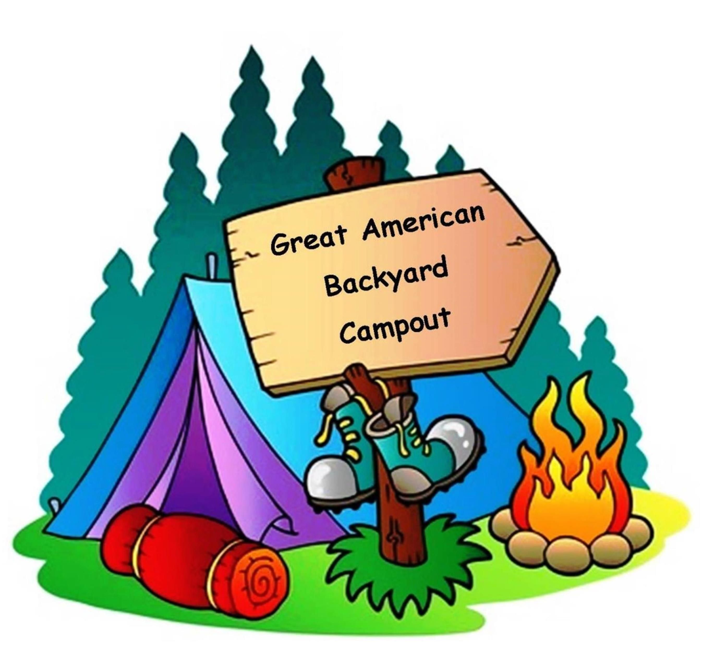 Camping clipart backyard camping. Great american campout to