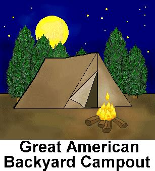 Funny suggest fun clip. Camping clipart backyard camping