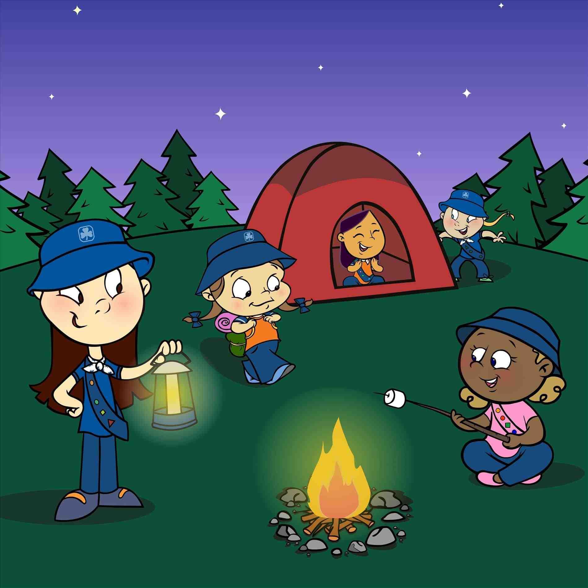 Camping clipart backyard camping. Alltripgo camp outrhetsycom girls