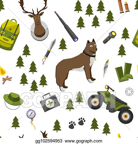 Camping clipart base camp. Eps illustration trip seamless