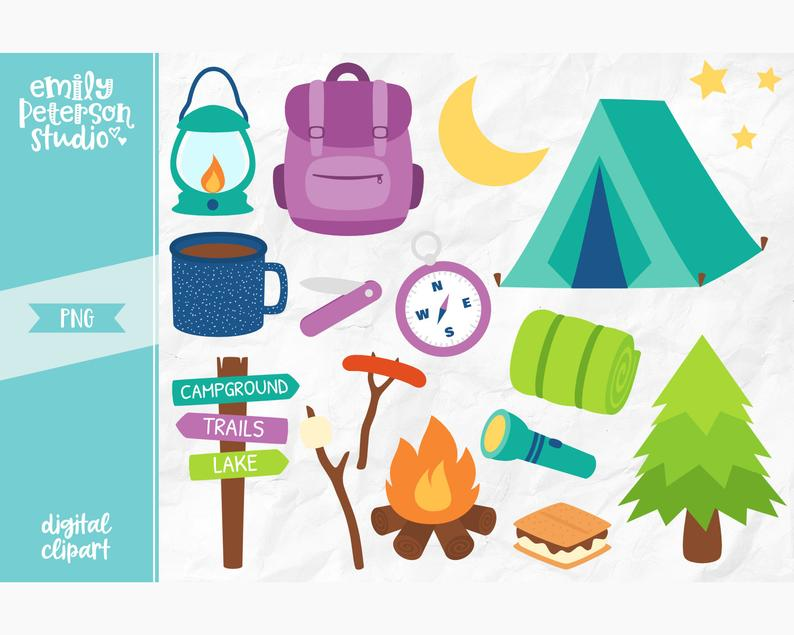 Clip art summer commercial. Camping clipart campground