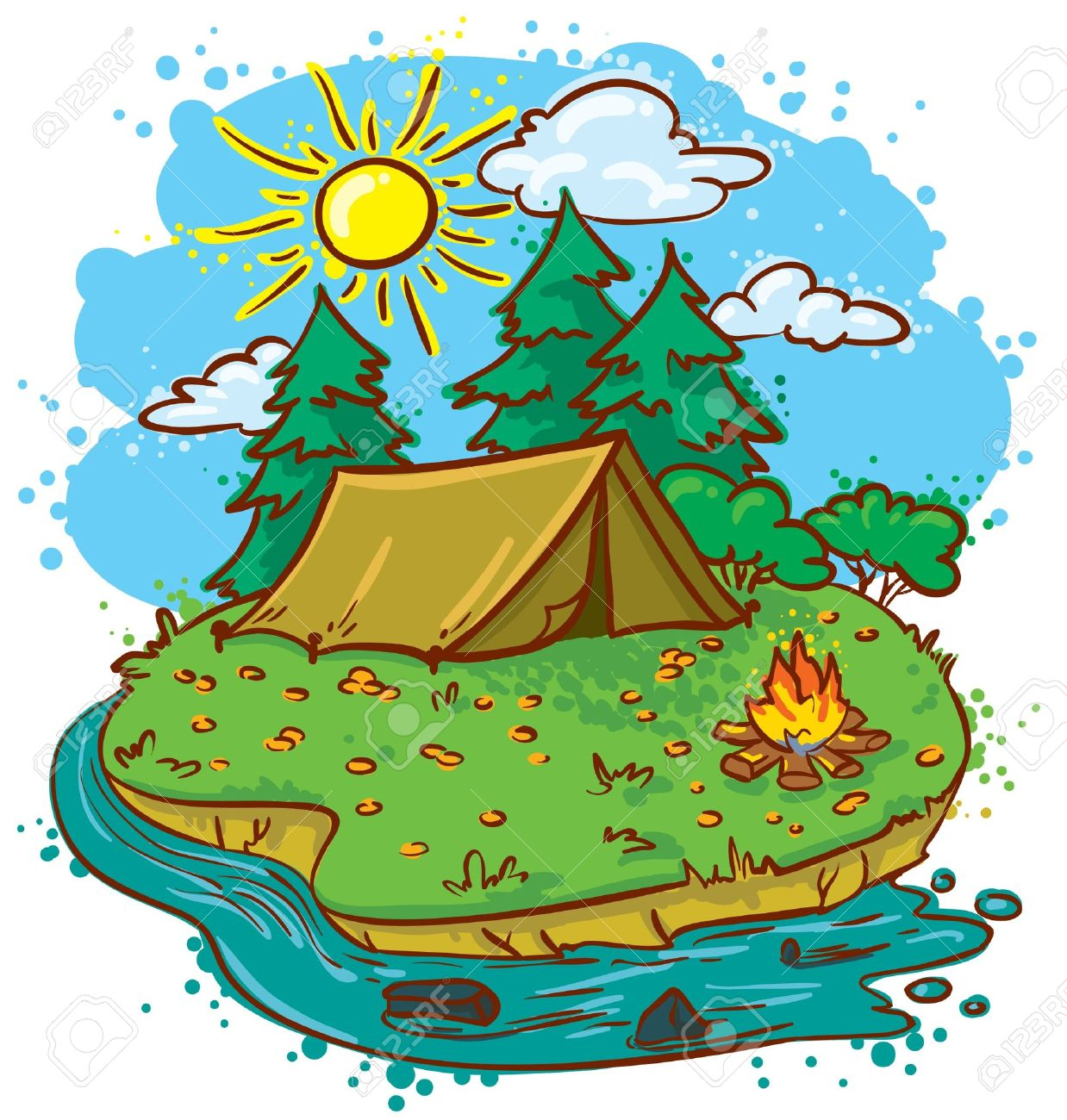 campsite clipartlook. Camping clipart campground