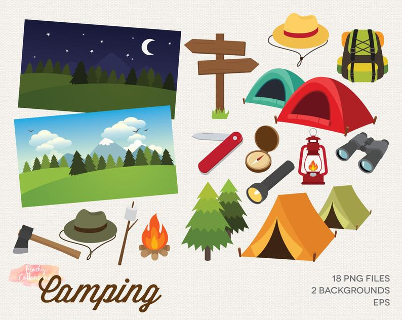 Camping clipart camping. Buy get free clip
