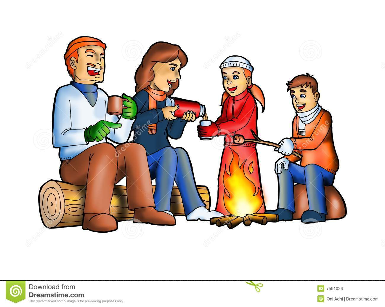 Camping clipart family camping. Free download best