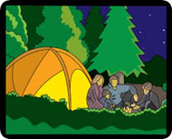 Search results for clip. Camping clipart family camping