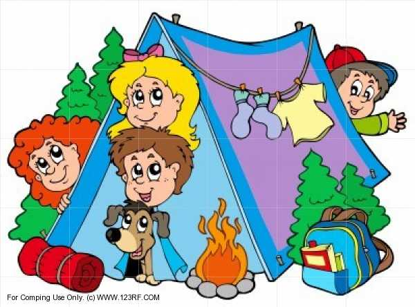 . Camping clipart family camping