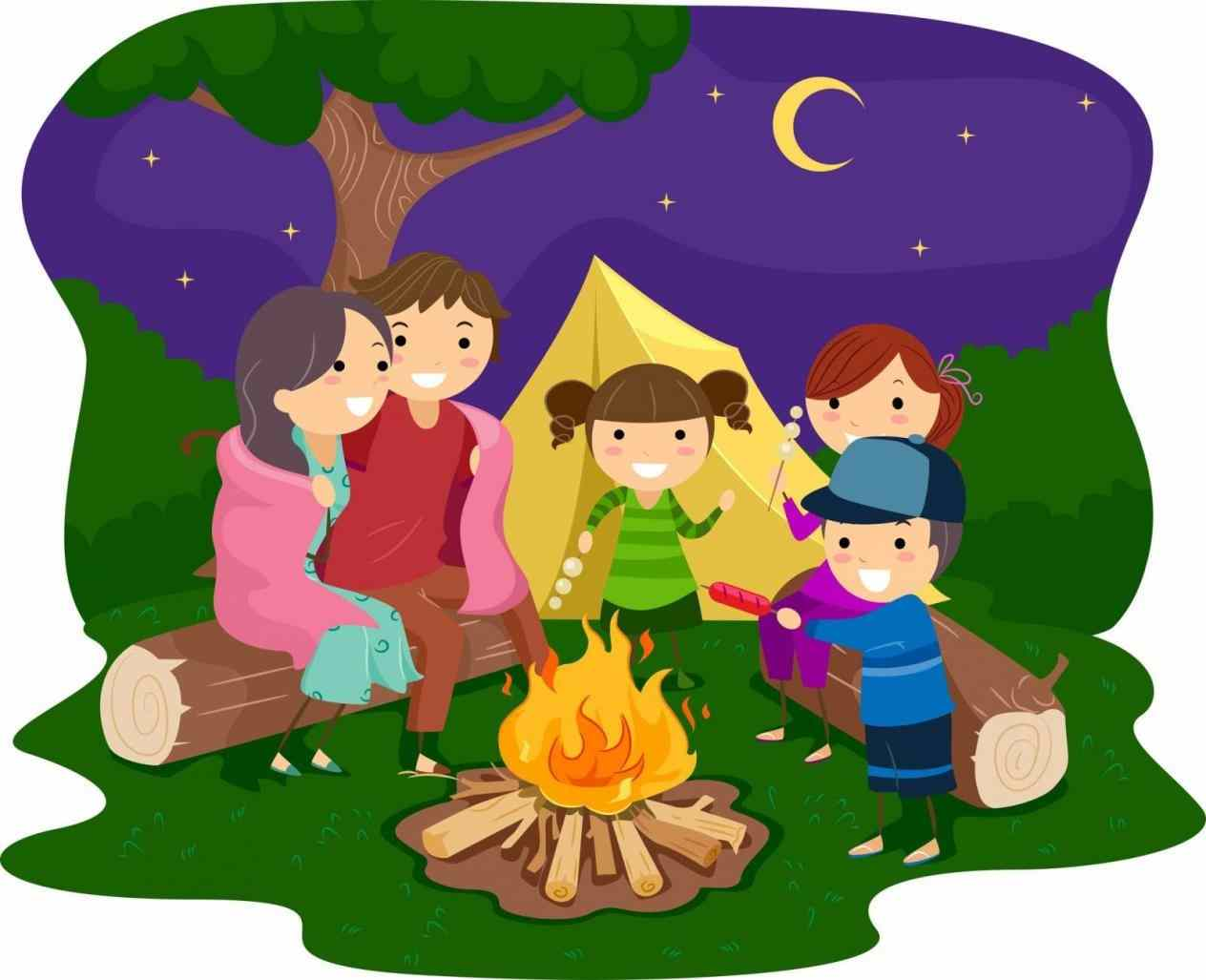 Camping clipart family camping. Free download clip art