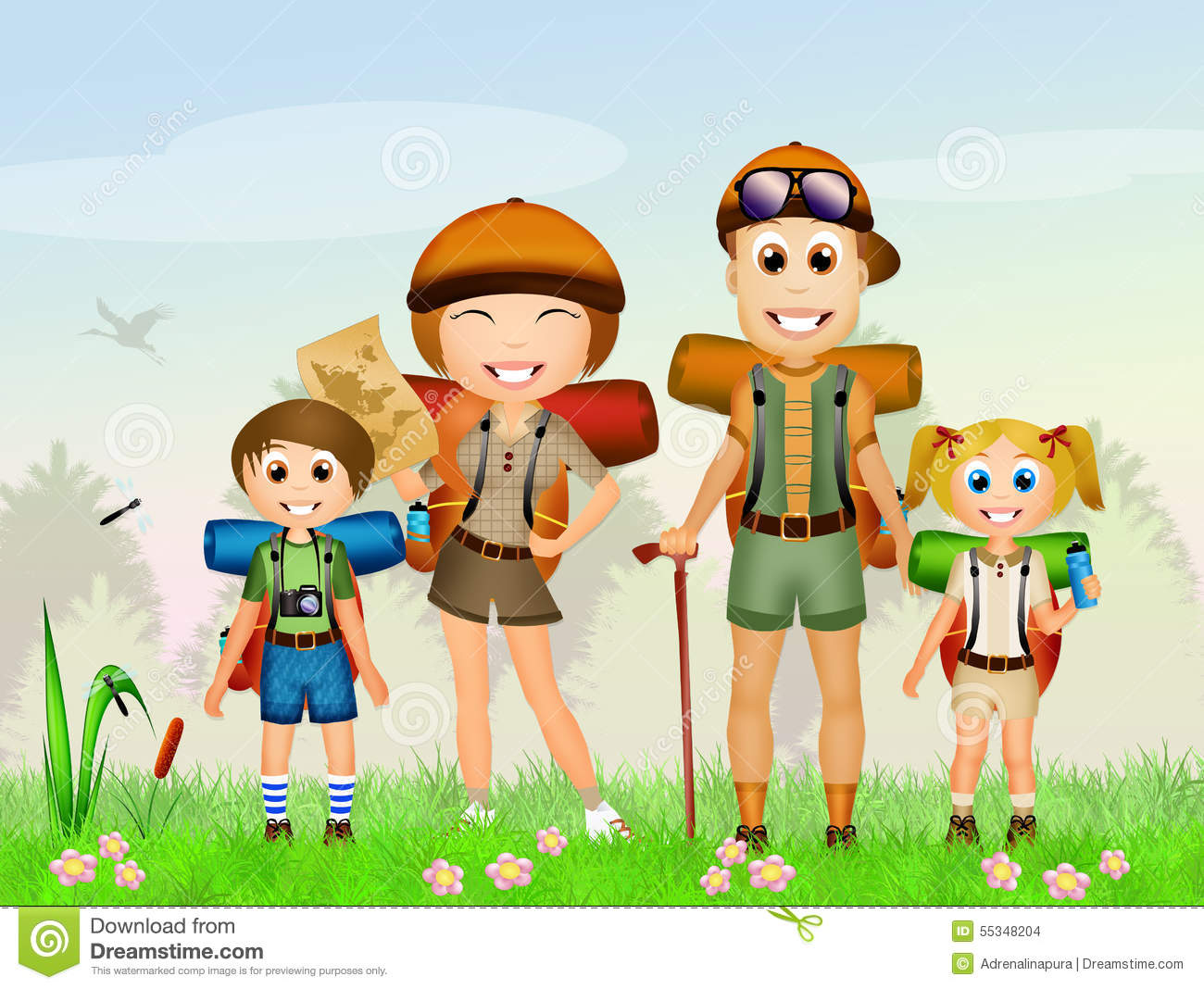 Camping clipart family camping. People clip art net