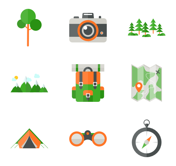 clipart forest camping
